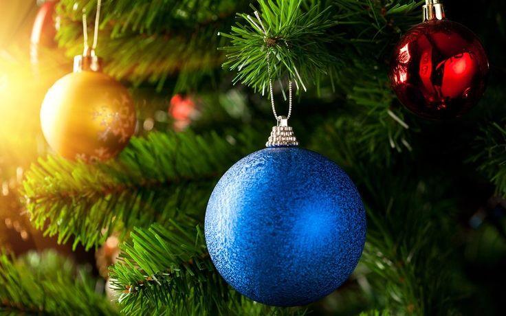 Διακοπές, το χριστουγεννιάτικο δέντρο, μπάλες, χειμώνα διανυσματικό