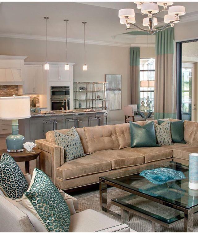 Schöne Farven Für Ein Gut Eingerichtetes Wohnzimmer