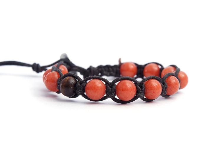 Peach Tibetan Bracelet For Man.