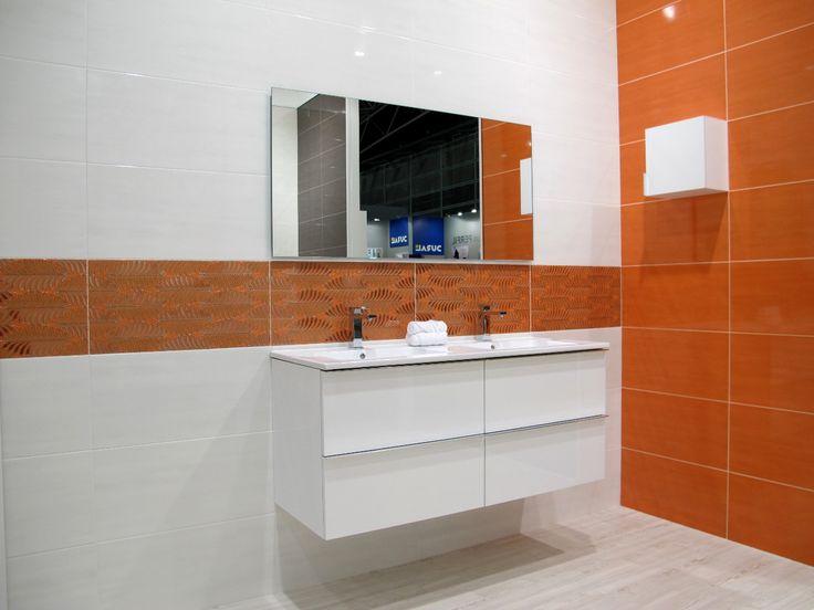 Aster 120 Blanco with Cubo Aster Blanco #grespania #bathroom