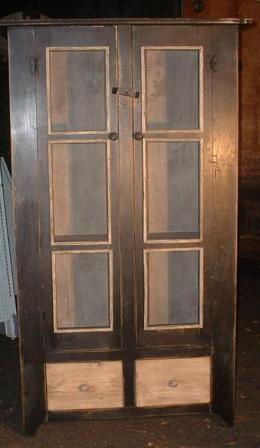 Double Screen Door Cupboard