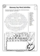 Harmony Day Word Activities - Upper Primary