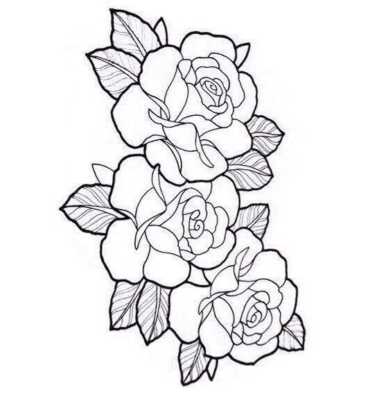 Tattoo roses outline