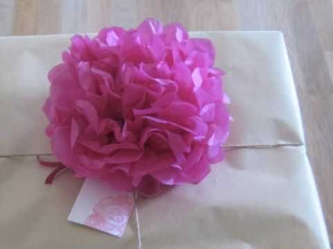 Here is the craft we will do at Chloe's party! Tissue paper flowers go well with playing dress up. I want to make small ones that I can put in the girl's hair.