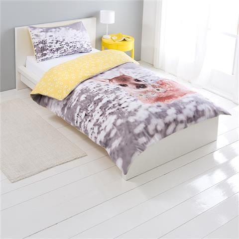 Deer Quilt Cover Set - Single | Kmart