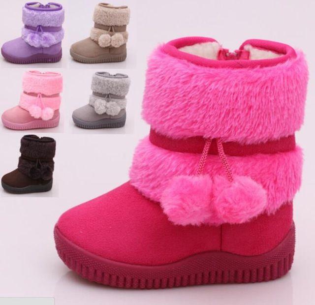 Nuevo invierno niños botas niñas botas de suela suave de los niños cómodos de la alta calidad caliente forro niño calza el envío gratis