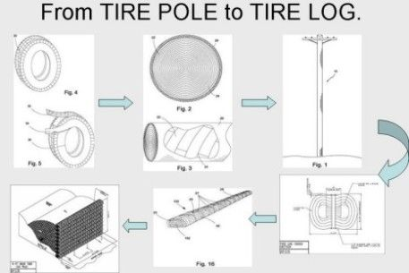 Earthquake Rebuilding with Recycled Tire Logs : TreeHugger