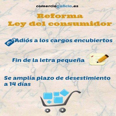 Infografía que explica los principales cambios de la reforma de la ley del consumidor. Descubre en qué te afecta y conoce tus derechos.