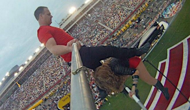 Wallenda Family Performs At NASCAR Charlotte Motor Speedway, Plays Chicken [Video]