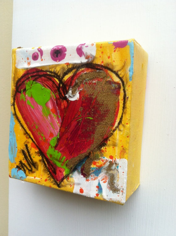 Original Heart painting signed by artbytracee on Etsy, $45.00