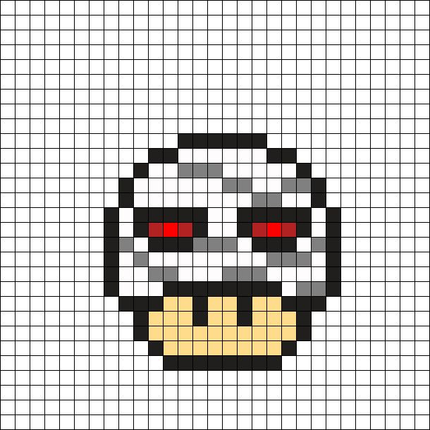 Modele Pixel Art Champignon Mario