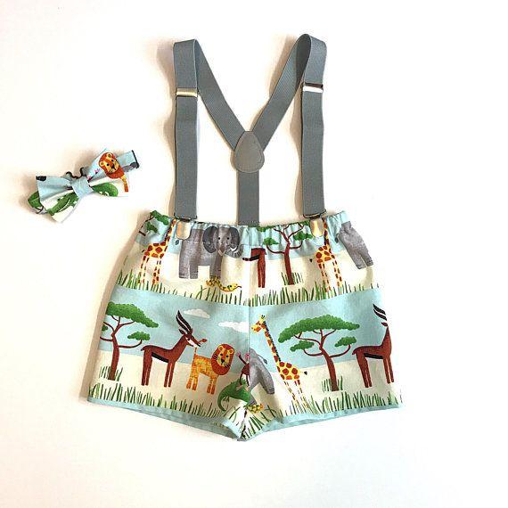 Baby Boy 1st Birthday Cake Smash Prop  Jungle Story Outfit Handmade