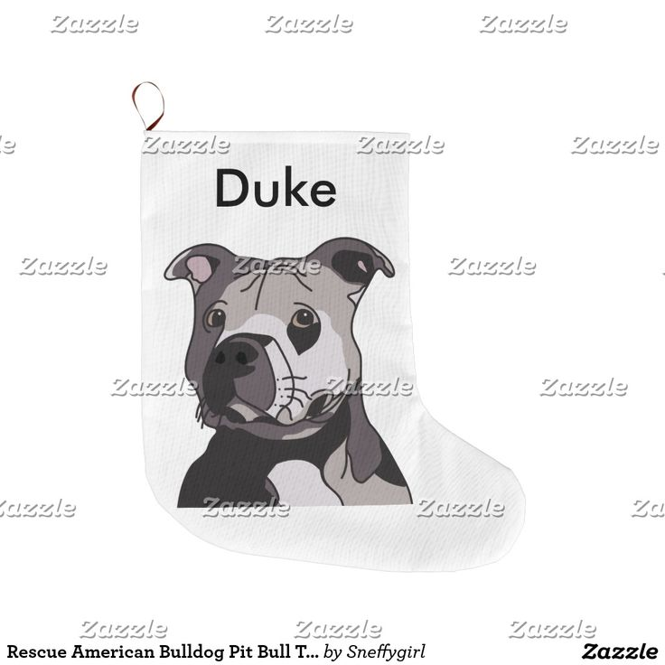 Rescue American Bulldog Pit Bull Terrier Portrait Large Christmas Stocking #zazzle #shelleyneffphotography #tshirt #sneffygirl #illustration #terrier #digital #pitbull #bully #bulldog #dog #doggie #doggy #lineart #christmas #stocking #pets #festivus #noel #sold #sale
