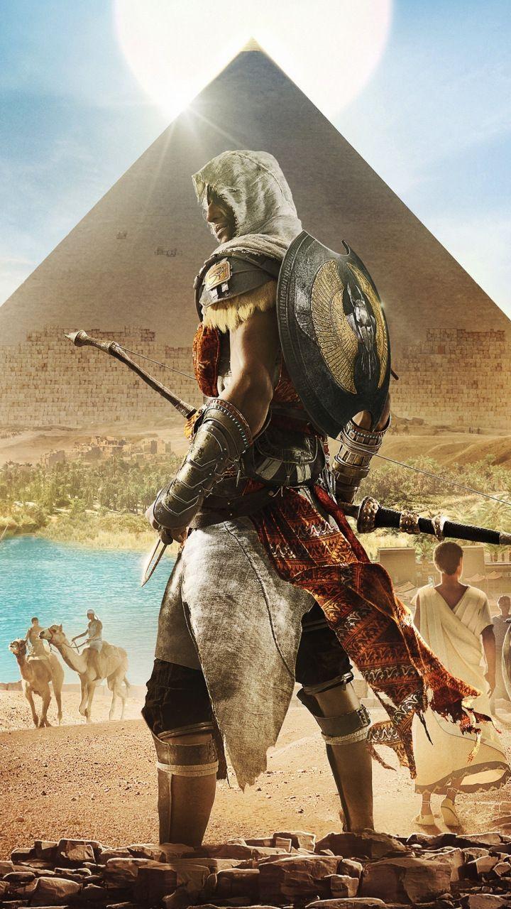 Assassin S Creed Origins Egypt Pyramids Video Game 720x1280