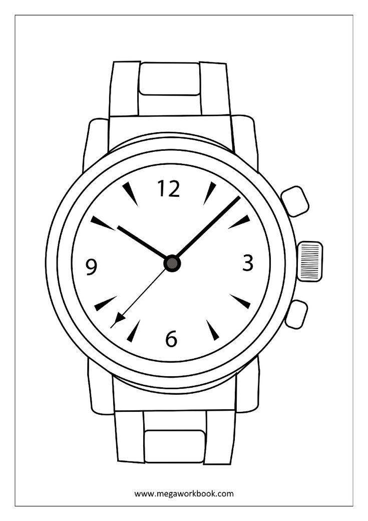 Coloring Sheet - Wrist Watch | Free coloring sheets ...