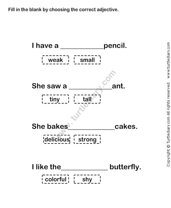 Describing Words Worksheet27