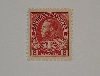 Stamp Pickers Canada 1915 KGV Admiral War Tax 2c Scott #MR3 MNH $120+