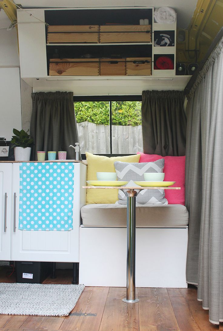 Van conversion motorhome interior design decoration campervan mobile home vanlife van Diy caravan interior design ideas