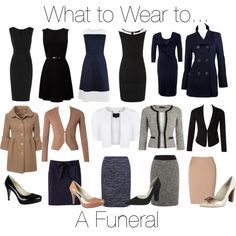 """What to Wear to a Funeral"" by stylecounsel on Polyvore"