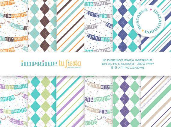 Papeles Digitales  Confetti para Papá  Papeles por ImprimeTuFiesta