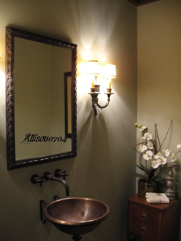 18 best small powder room decor images on pinterest - Small powder room decor ...
