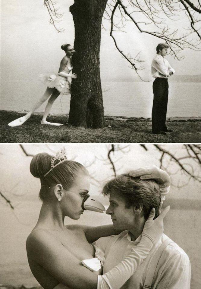 Михаил Барышников и 17-летняя Ума Турман, 1987 год Фотограф Артур Элгор