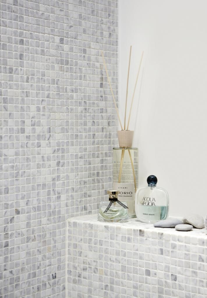 Tulikivi bianco carrara marble mosaic is easy to install and look beautiful! Tulikivi's media