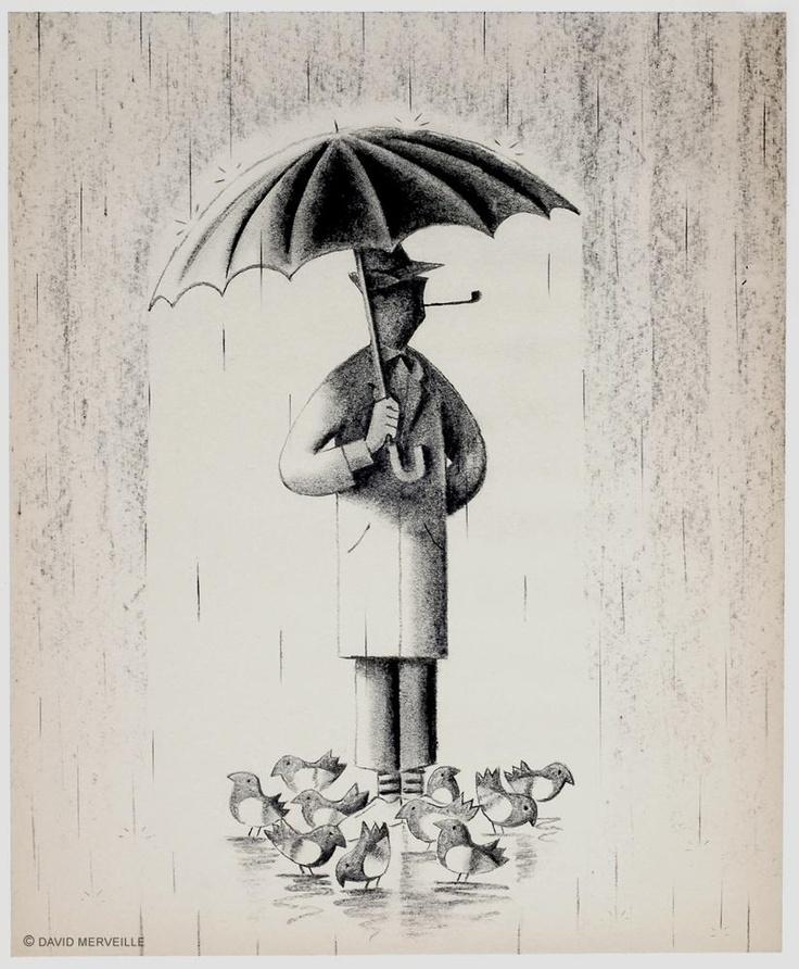 M. Hulot umbrella illustration by David Merveille