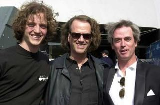 Andre Rieu and his family. Pierre, Andre and Robert Rieu