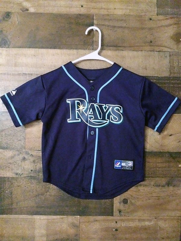 db3e10d7f5f Authentic Majestic MLB TAMPA BAY RAYS Child Embroidered Jersey