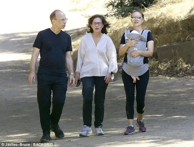 Hitting the trails! Natalie Portman went for a hike on Friday with her parents Shelley and Avner and newborn daughter Amalia in Los Feliz