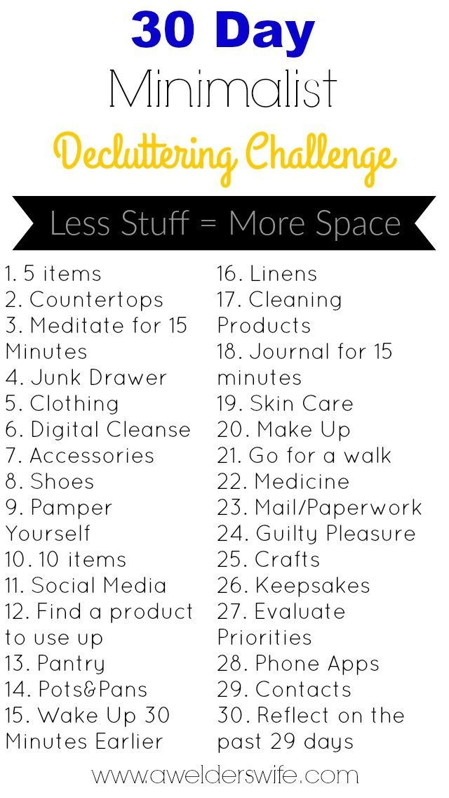 Minimalist Decluttering Challenge: 30 Days to Declutter Your Home