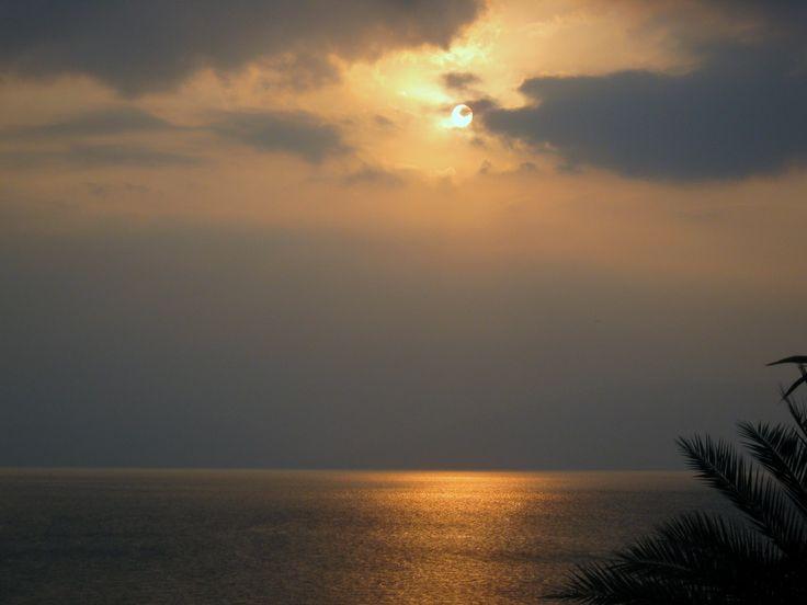 Mar de la Galilea (Israel) al Caer la tarde