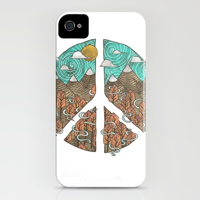 Peaceful Landscape iPhone Case by Hector Mansilla