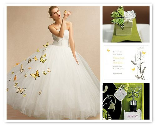 butterflies on the wedding dress whimsically stunning for a garden wedding theme
