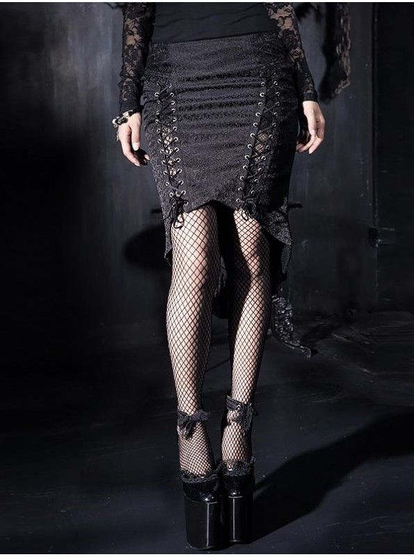 Carry your look from day to night with our range of long fishtail skirt today. A corseted black gothic skirt is mermaid silhouette hugging the thighs and flaring from the knee.Discover from http://bit.ly/fishtailskirt