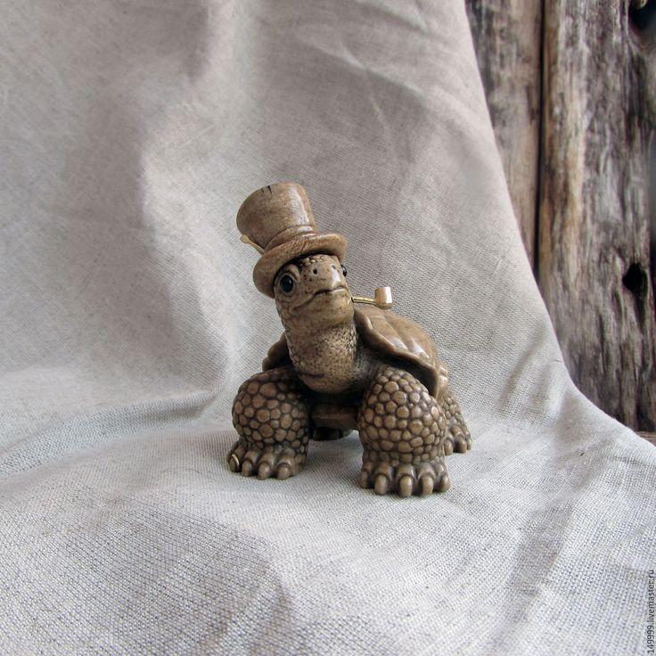 Купить Джентльмен с трубкой - черепаха, черепашка, черепашки, джентльмен, в шляпе, курительная трубка, булавка, кольцо