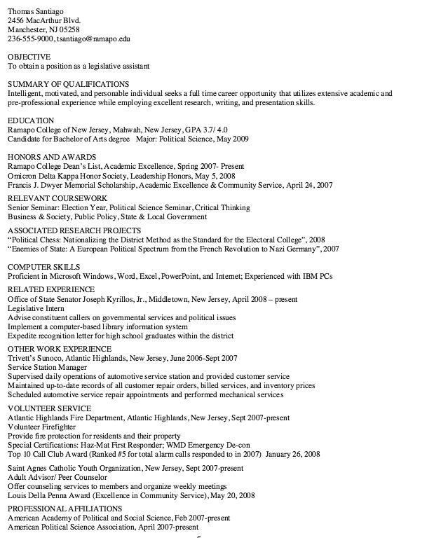 Sample Of Scannable Resume - http\/\/resumesdesign\/sample-of - legislative aide sample resume