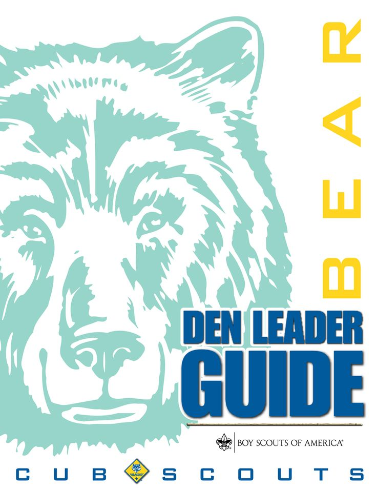 Bear Den Leader Guide - this has the den mtg outlines I have in my binder, but this also has some videos and stuff, too.