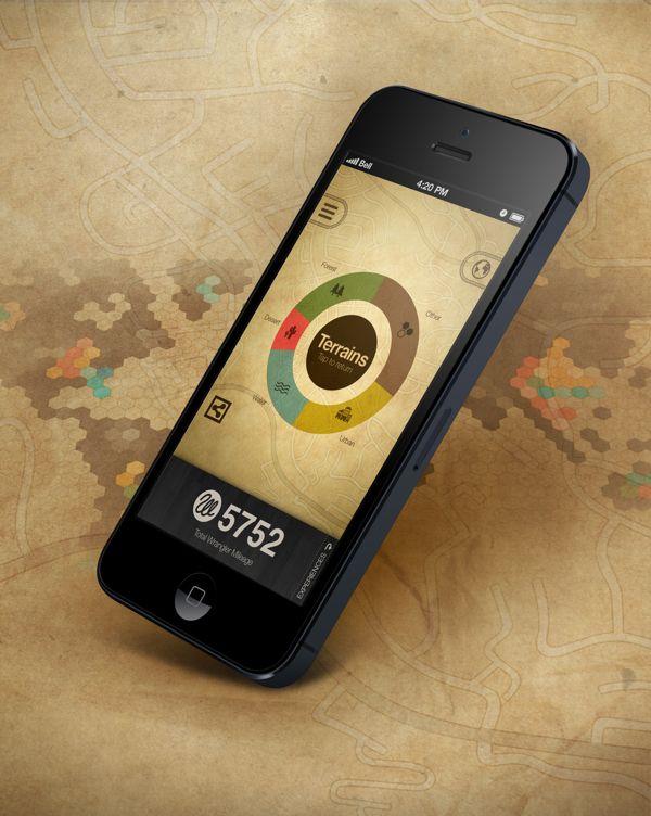 Wrangler Mileage by Joe Choi, via Behance. Love the earthiness! #design #mobile