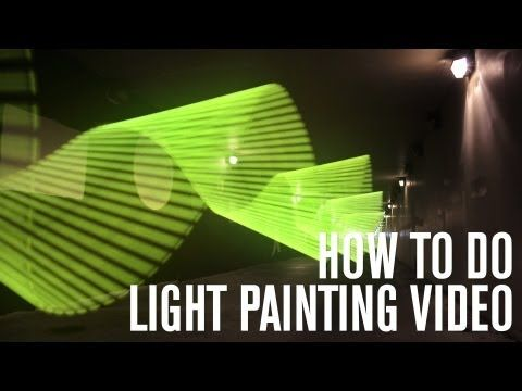 Light Painting Video Effect Tutorial - YouTube