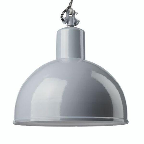 Gics Hanglamp 350 blauwgrijs Mooie en zeer stijlvolle blauwgrijze emaille industriële hanglamp. Deze lamp heeft een speciale uitstraling door de antieke afwerking met een oude look. Mooie verlichting voor boven de eettafel.