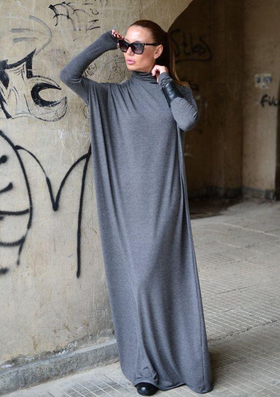 New Collection F/W 2016  Maxi Dress Turtlenecks Dark by EUGfashion
