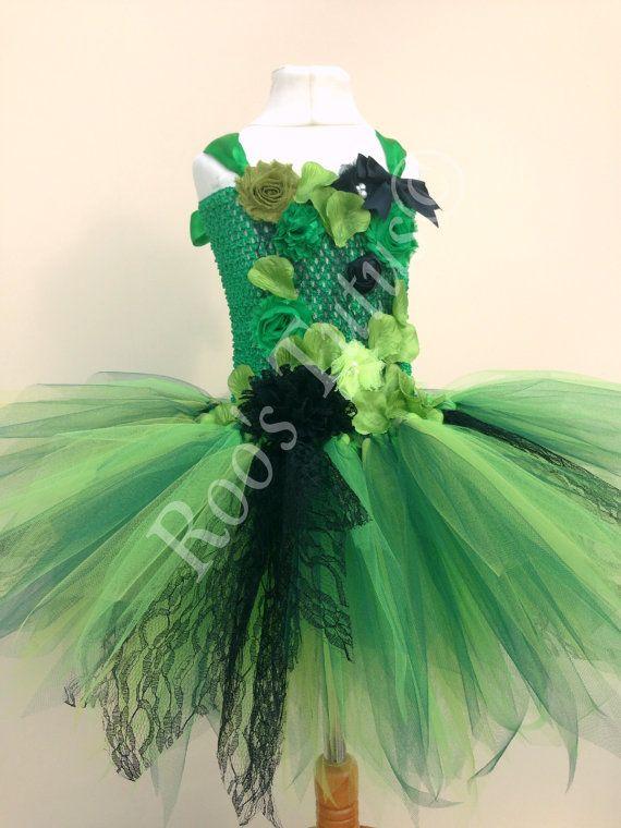 Poison Ivy villain inspired tutu dress costume Handmade.
