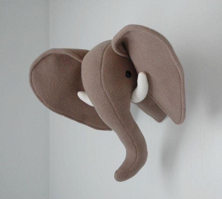 Plush Taxidermy: Elephant and Giraffe