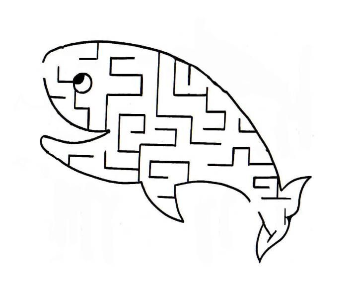 Walvis doolhof // Whale maze. This site has lots of free Christian printables - mazes, coloring, dot-to-dot, ect.
