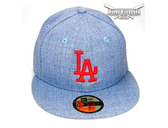 Los Angeles Dodgers Heather Pop 59Fifty Fitted Baseball Cap by NEW ERA x MLB