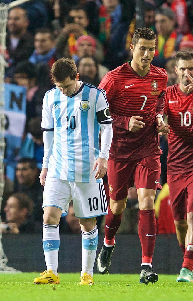 Argentina S Lionel Messi And Cristiano Ronaldo Of Portugal During