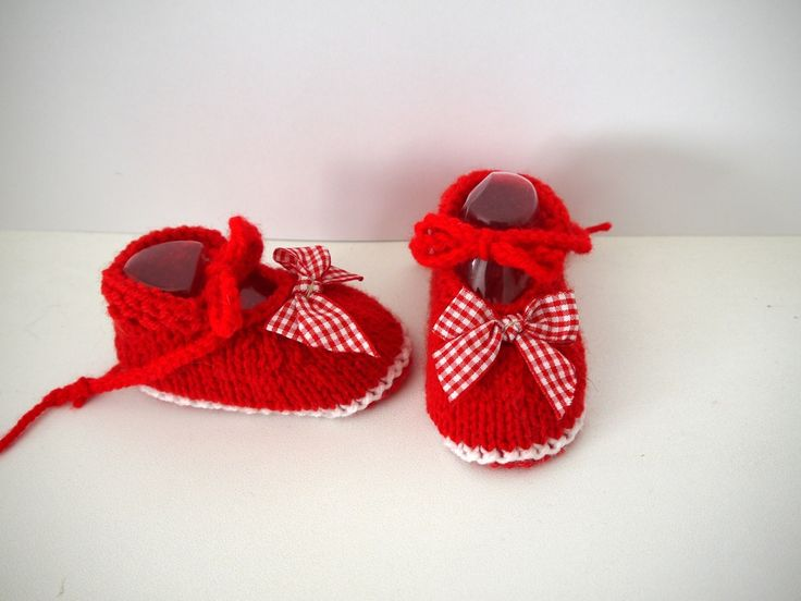 ballerines bébé chaussons naissance 0/3 mois Rouge lacets Noeuds vichy via Sweet-Creas's shop. Click on the image to see more!
