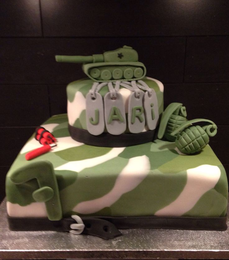 Army cake, leger taart